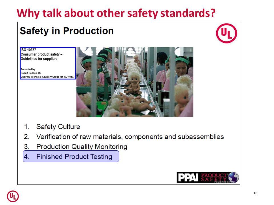 Why talk about other safety standards