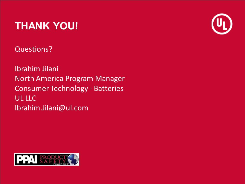 THANK YOU! Questions Ibrahim Jilani North America Program Manager