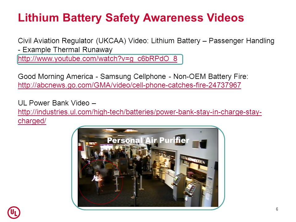 Lithium Battery Safety Awareness Videos