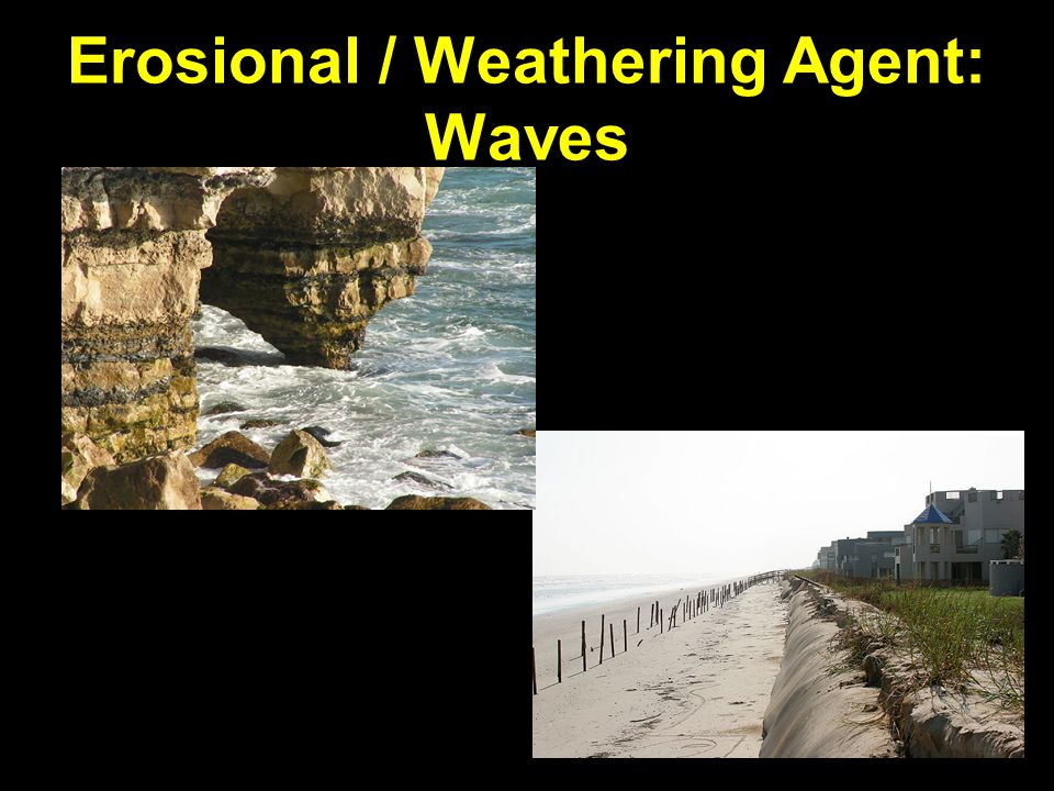 Erosional / Weathering Agent: Waves