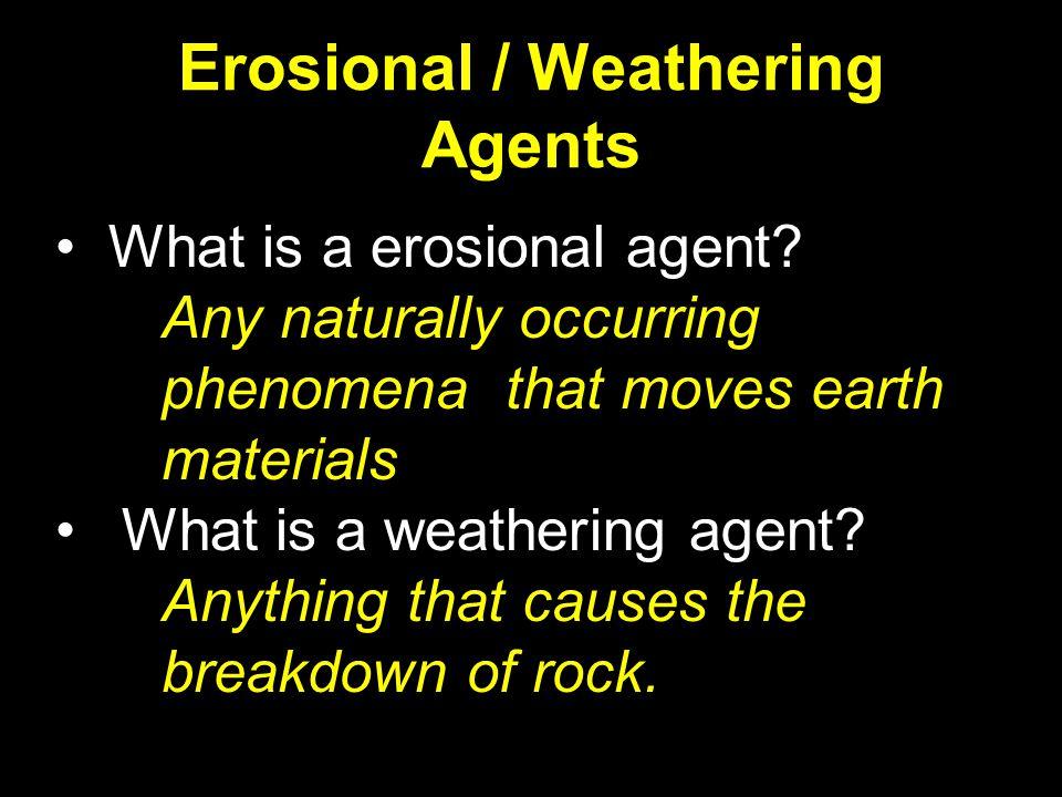 Erosional / Weathering Agents