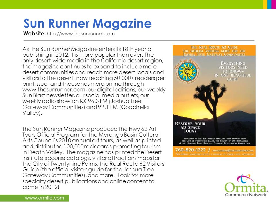 Sun Runner Magazine Website: http://www.thesunrunner.com