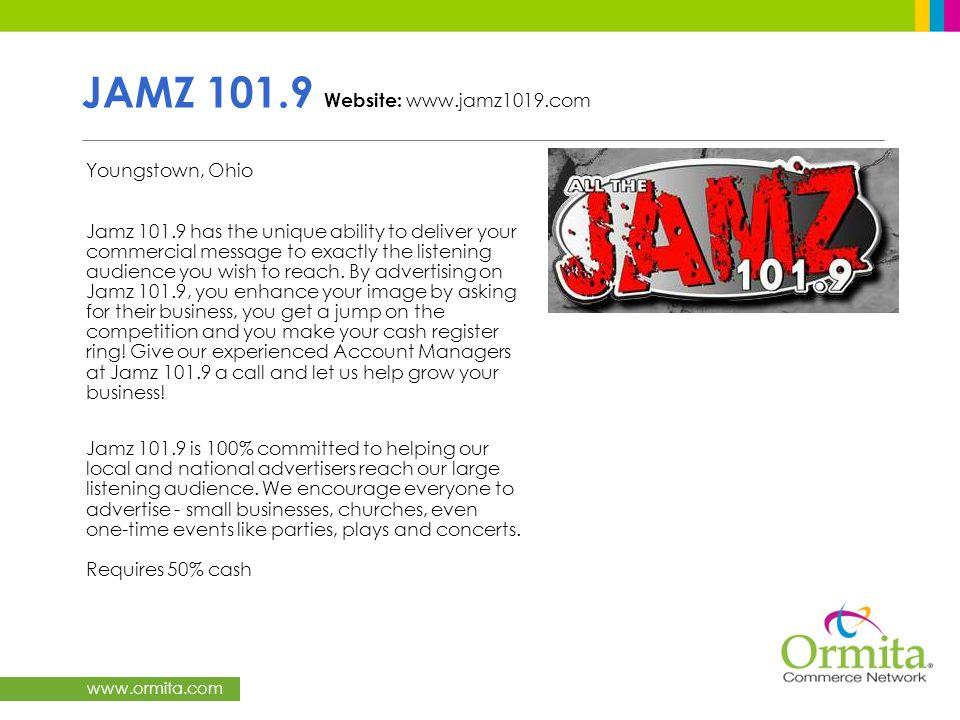JAMZ 101.9 Website: www.jamz1019.com