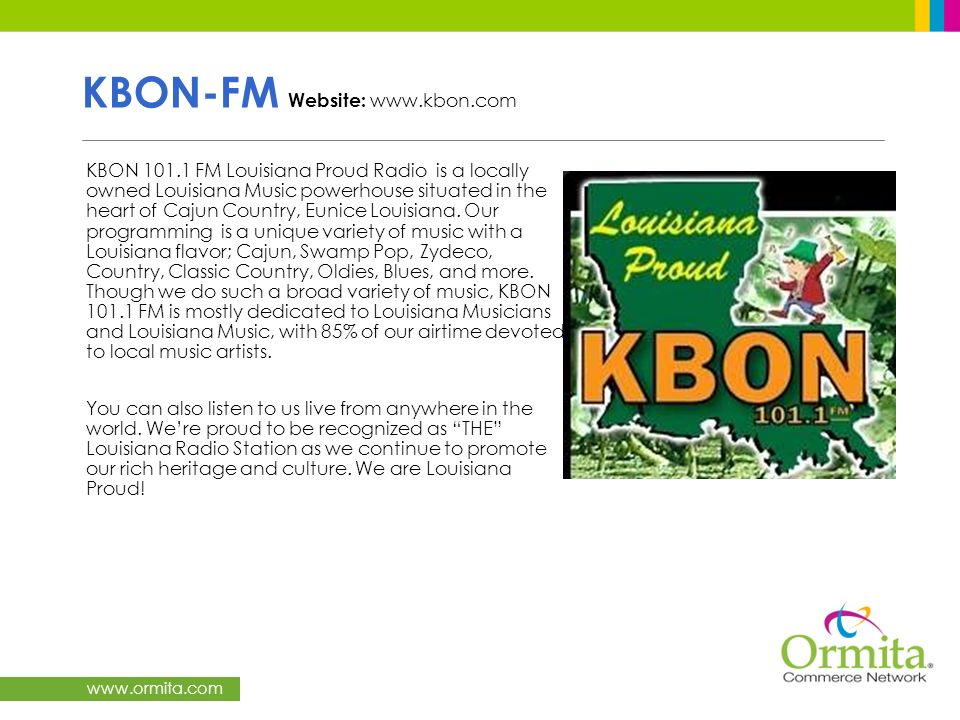 KBON-FM Website: www.kbon.com