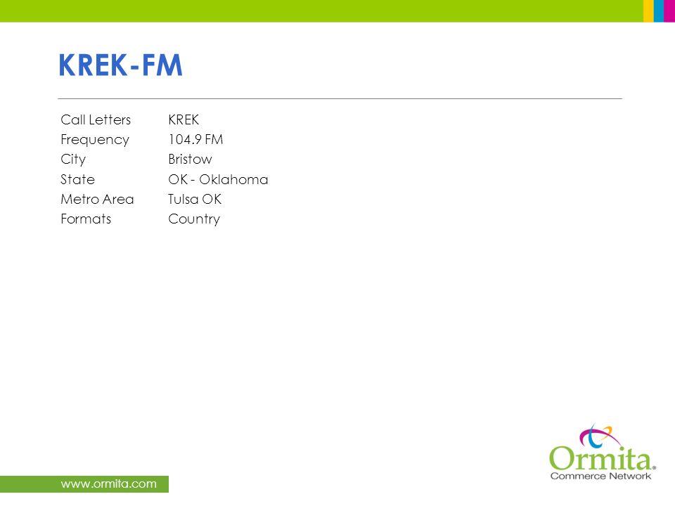 KREK-FM Call Letters KREK Frequency 104.9 FM City Bristow