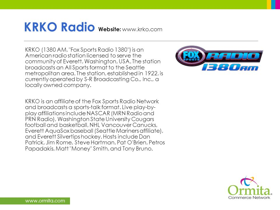 KRKO Radio Website: www.krko.com