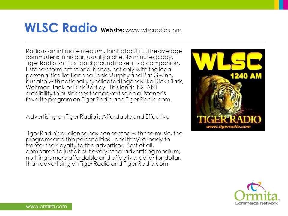 WLSC Radio Website: www.wlscradio.com