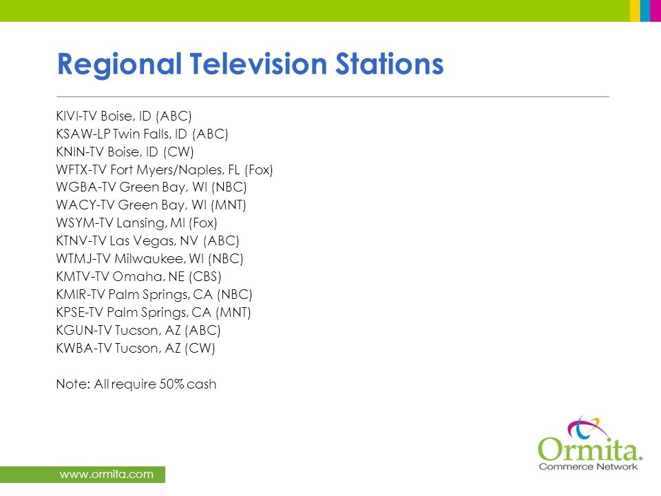 Regional Television Stations