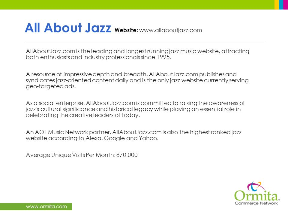 All About Jazz Website: www.allaboutjazz.com