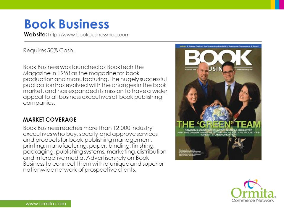 Book Business Website: http://www.bookbusinessmag.com