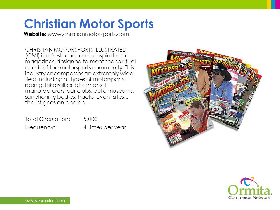 Christian Motor Sports Website: www.christianmotorsports.com