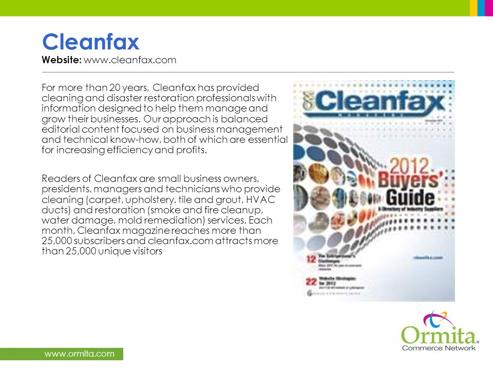 Cleanfax Website: www.cleanfax.com