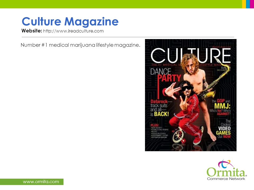 Culture Magazine Website: http://www.ireadculture.com