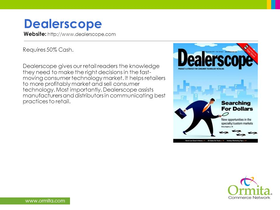 Dealerscope Website: http://www.dealerscope.com