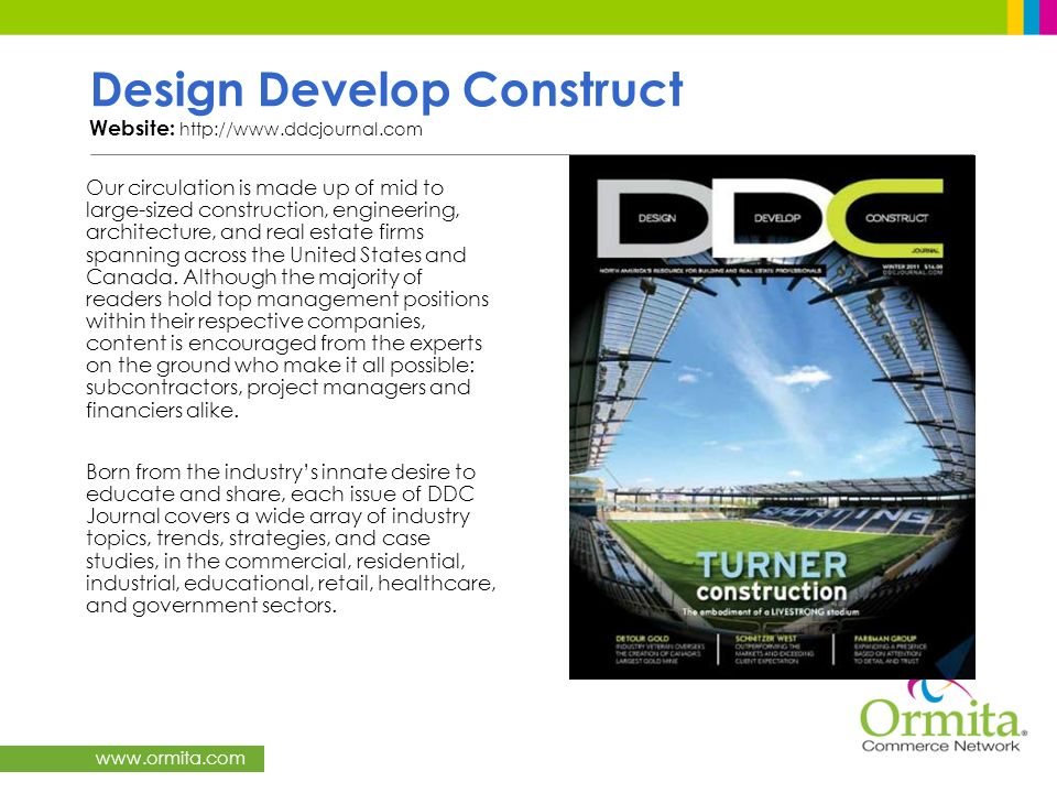 Design Develop Construct Website: http://www.ddcjournal.com