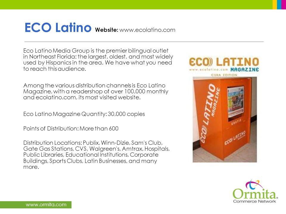 ECO Latino Website: www.ecolatino.com