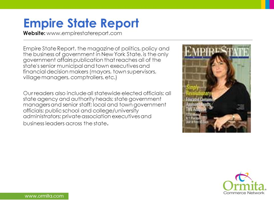 Empire State Report Website: www.empirestatereport.com