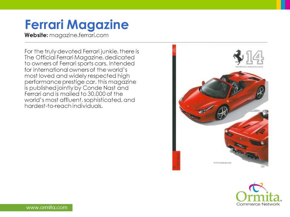 Ferrari Magazine Website: magazine.ferrari.com