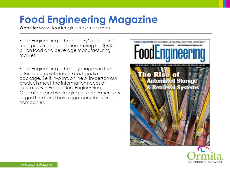 Food Engineering Magazine Website: www.foodengineeringmag.com