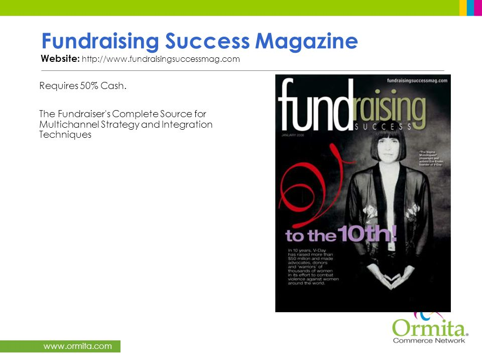 Fundraising Success Magazine Website: http://www.fundraisingsuccessmag.com
