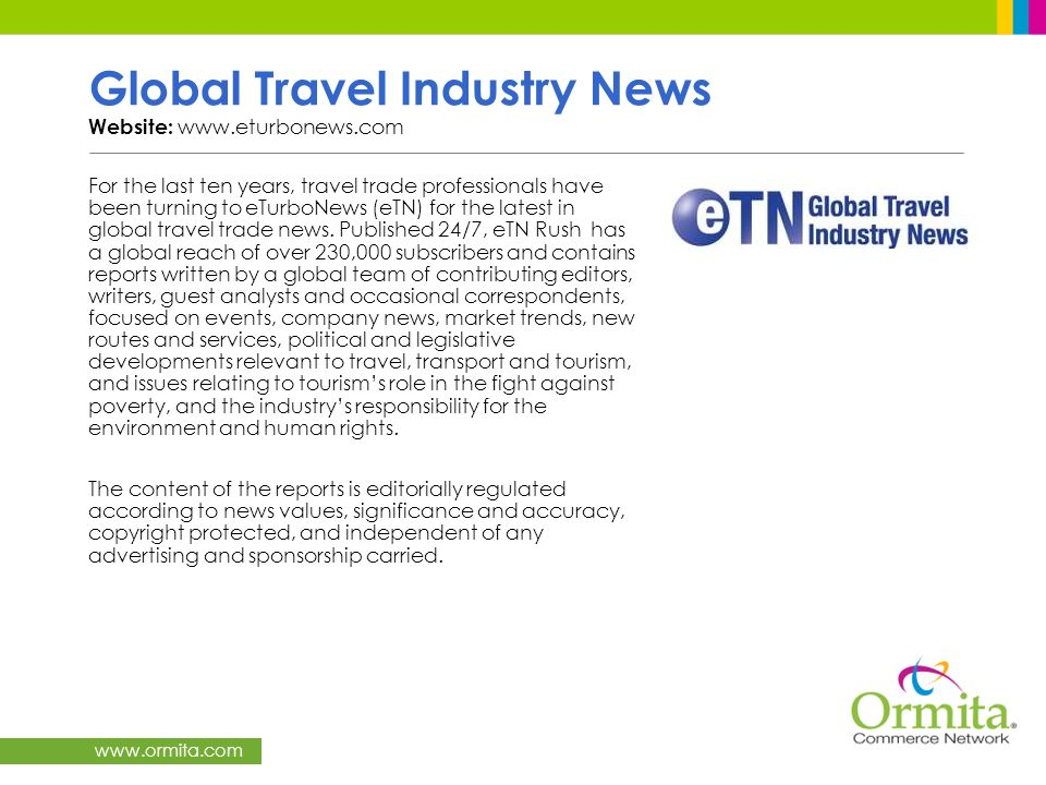 Global Travel Industry News Website: www.eturbonews.com