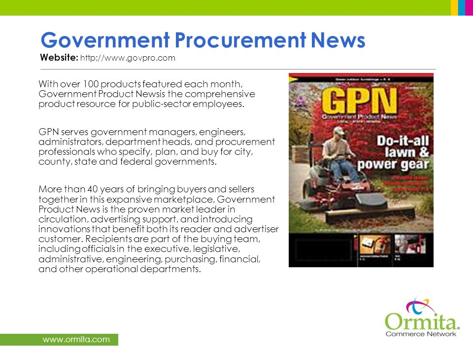 Government Procurement News Website: http://www.govpro.com