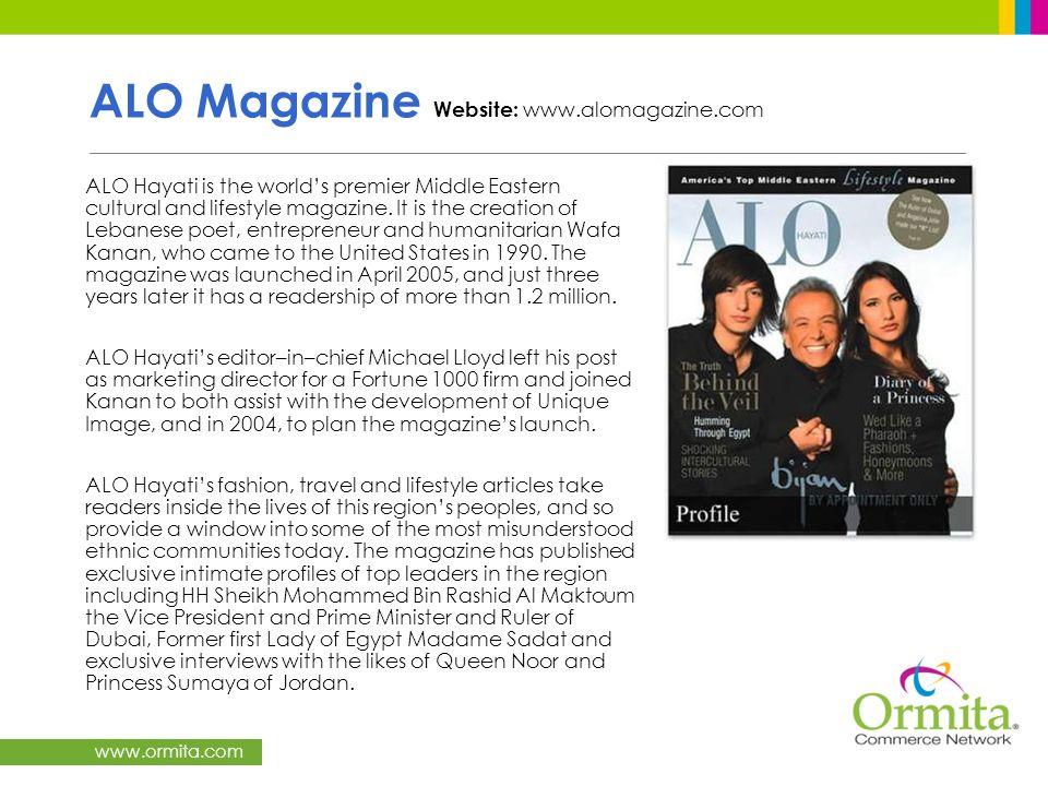 ALO Magazine Website: www.alomagazine.com
