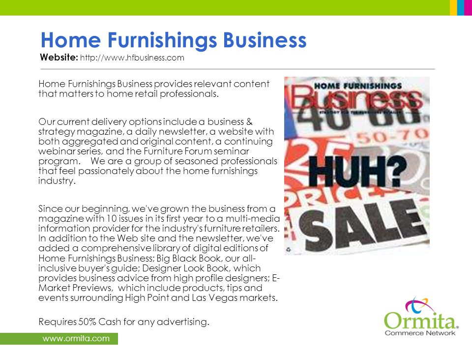 Home Furnishings Business Website: http://www.hfbusiness.com