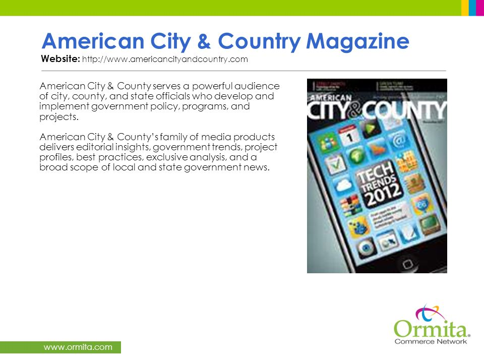American City & Country Magazine Website: http://www