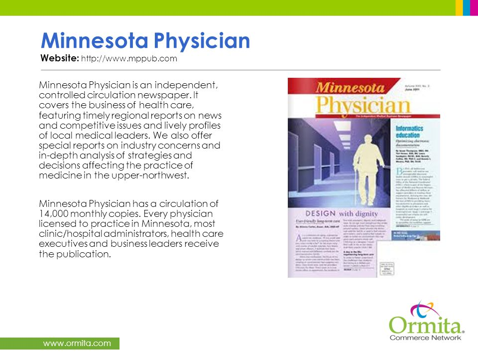 Minnesota Physician Website: http://www.mppub.com