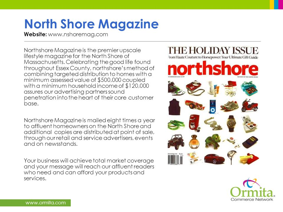 North Shore Magazine Website: www.nshoremag.com