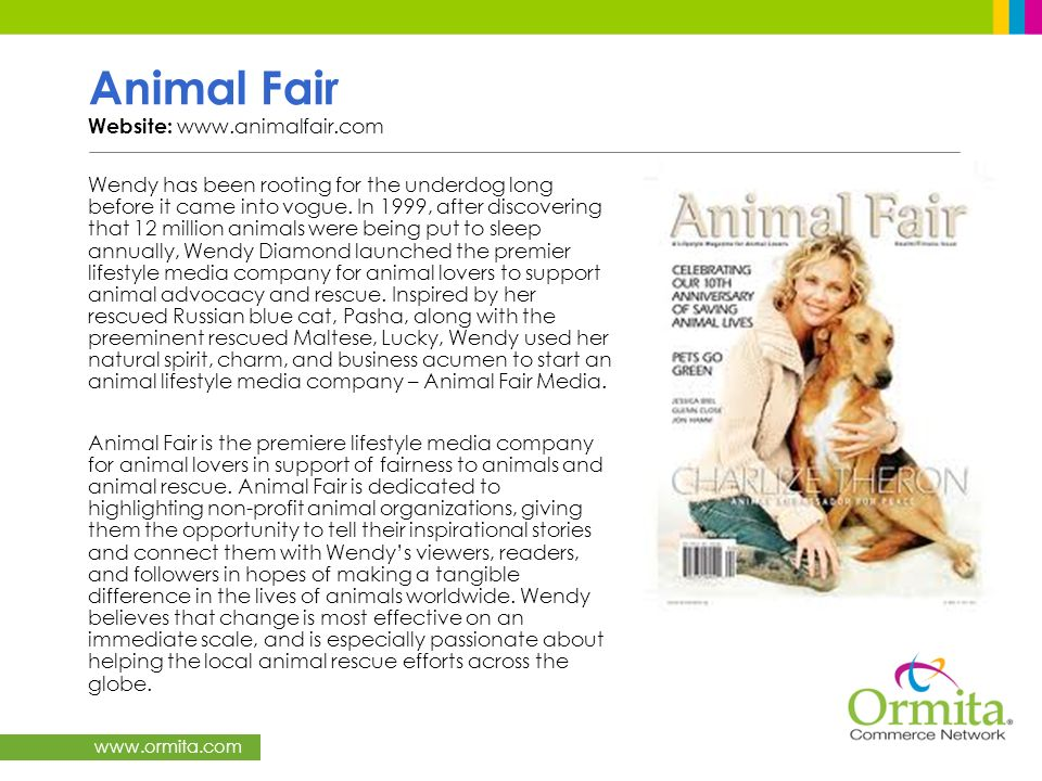 Animal Fair Website: www.animalfair.com