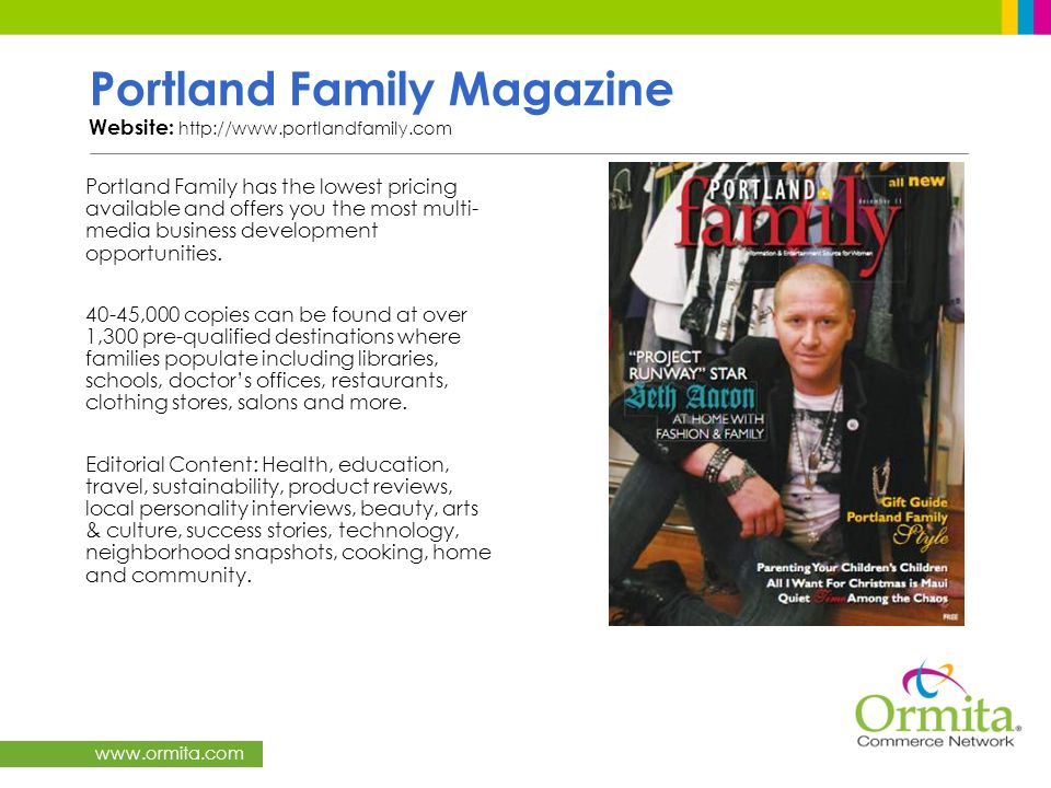 Portland Family Magazine Website: http://www.portlandfamily.com