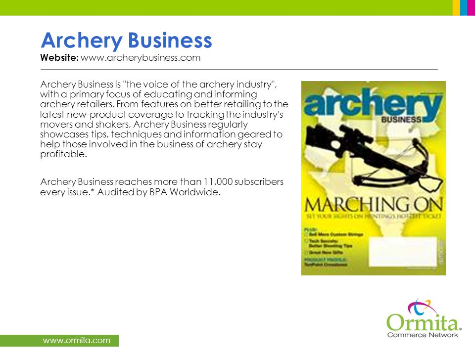 Archery Business Website: www.archerybusiness.com