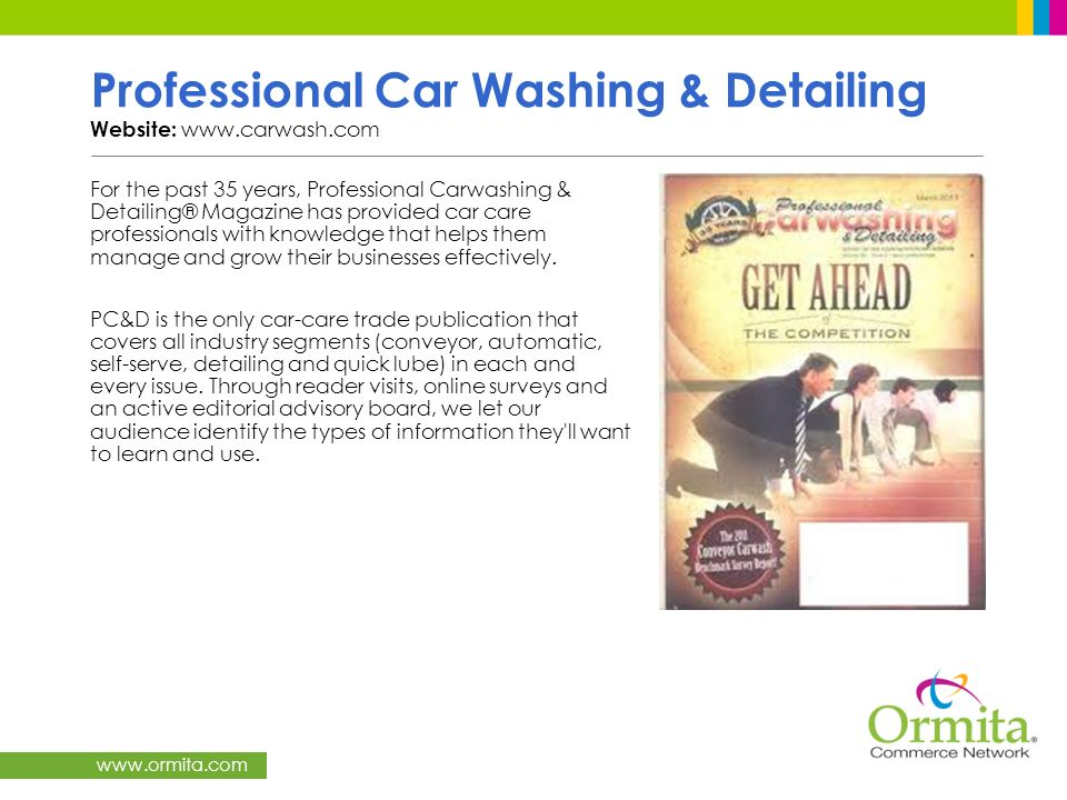 Professional Car Washing & Detailing Website: www.carwash.com