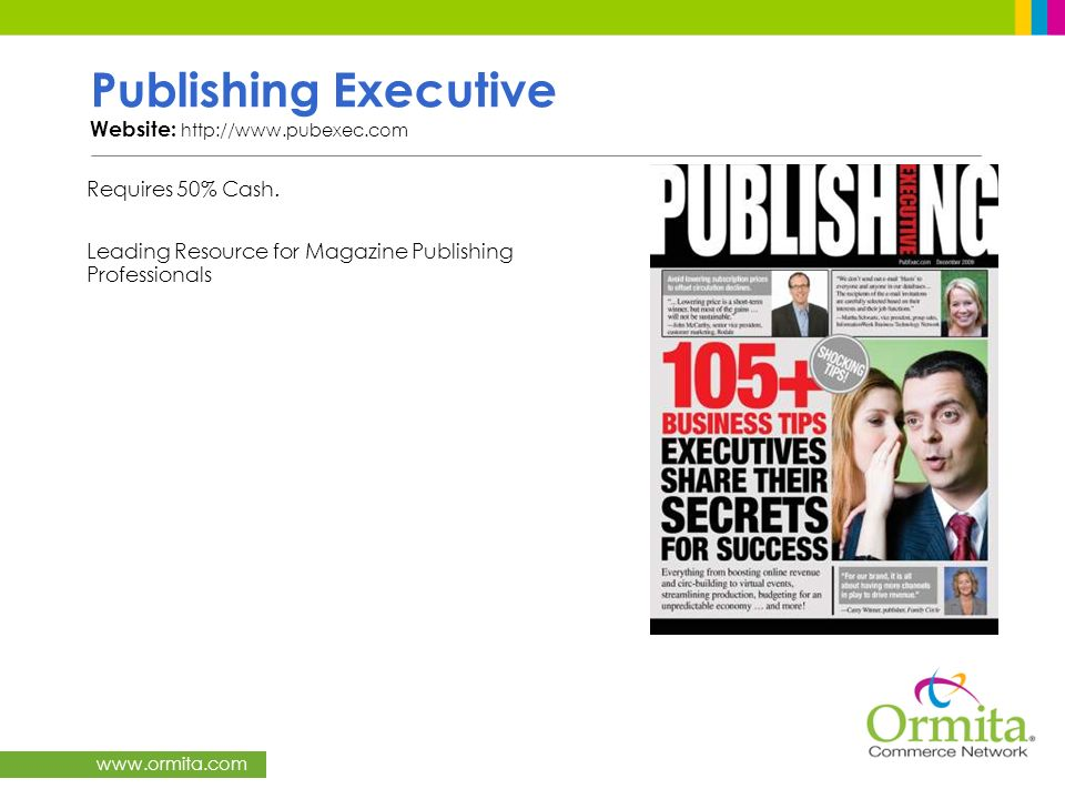 Publishing Executive Website: http://www.pubexec.com