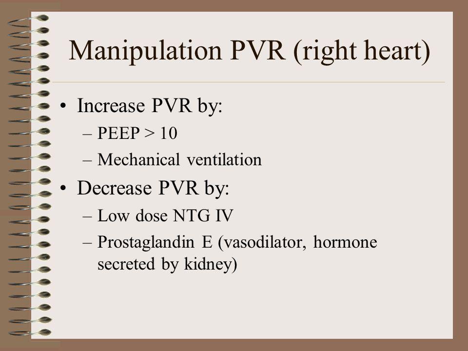 Manipulation PVR (right heart)