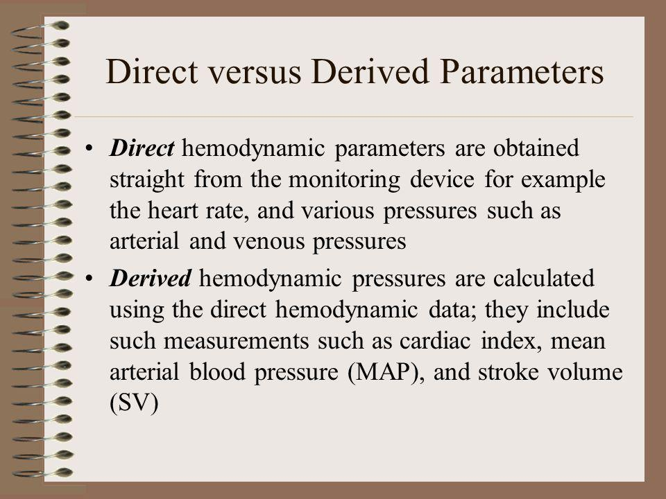 Direct versus Derived Parameters