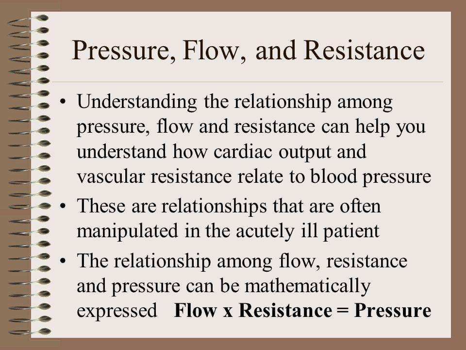 Pressure, Flow, and Resistance