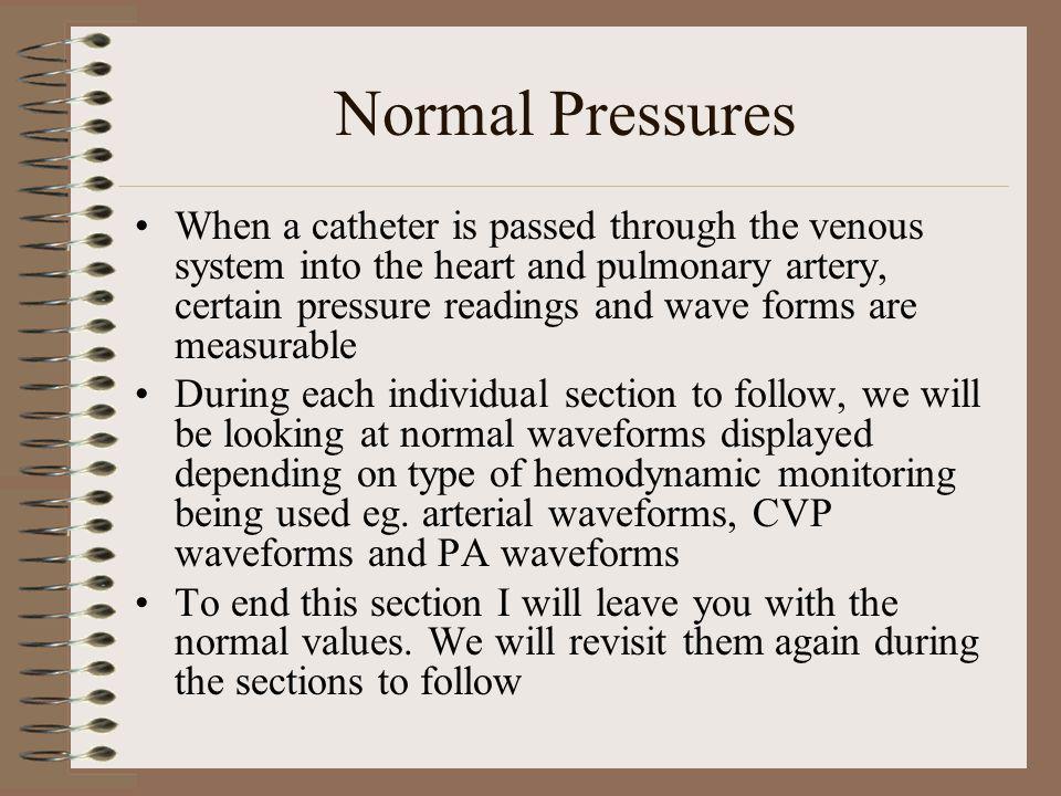 Normal Pressures