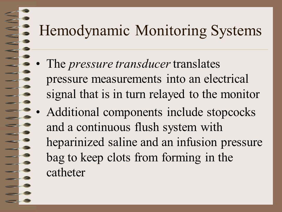 Hemodynamic Monitoring Systems