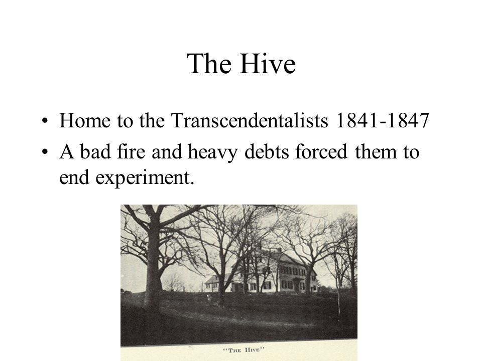The Hive Home to the Transcendentalists 1841-1847