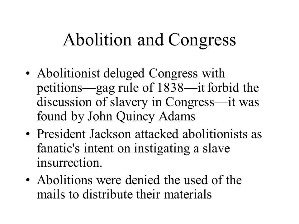Abolition and Congress