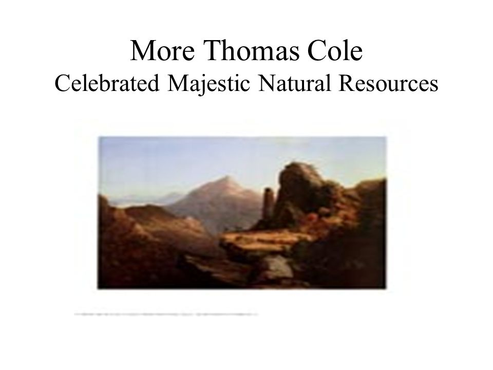 More Thomas Cole Celebrated Majestic Natural Resources