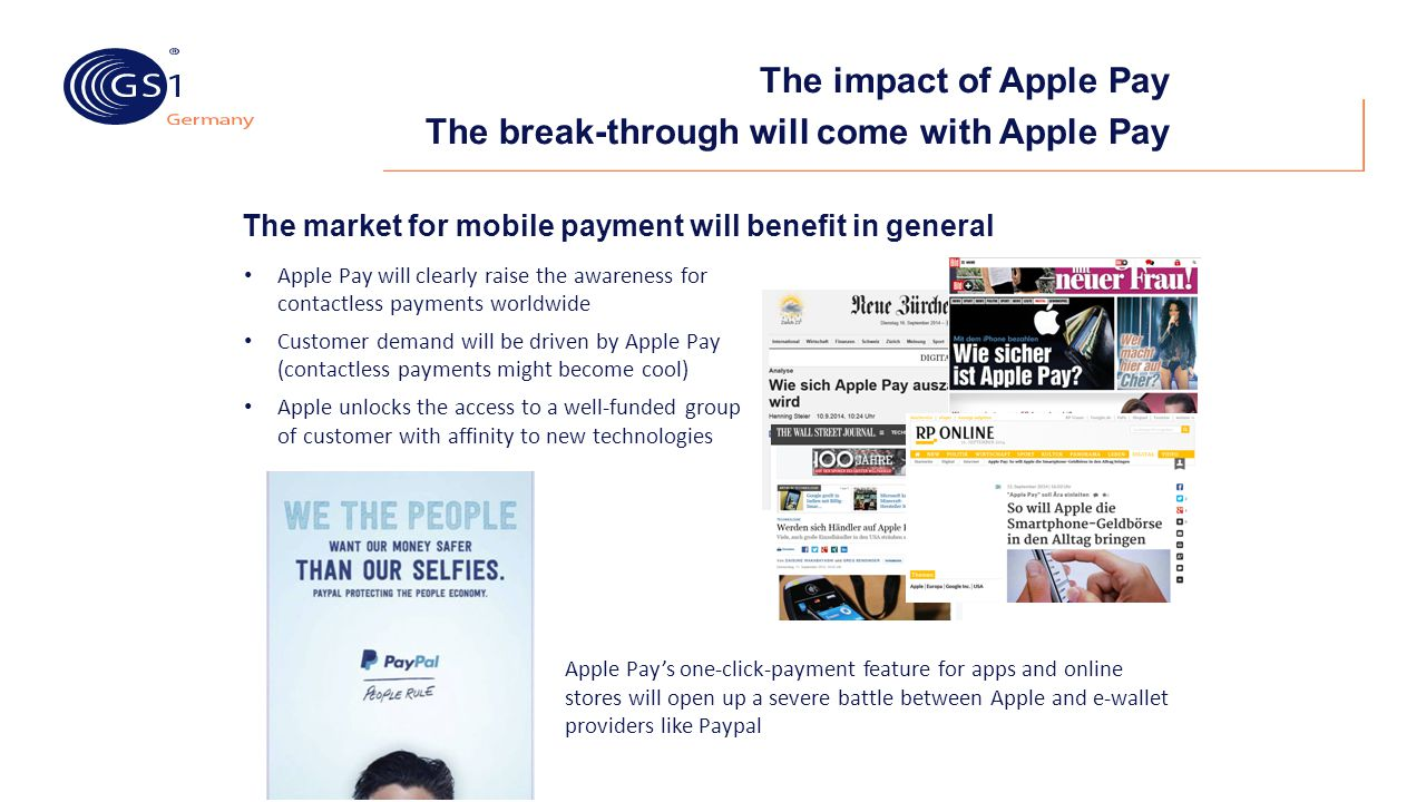 The impact of Apple Pay The break-through will come with Apple Pay