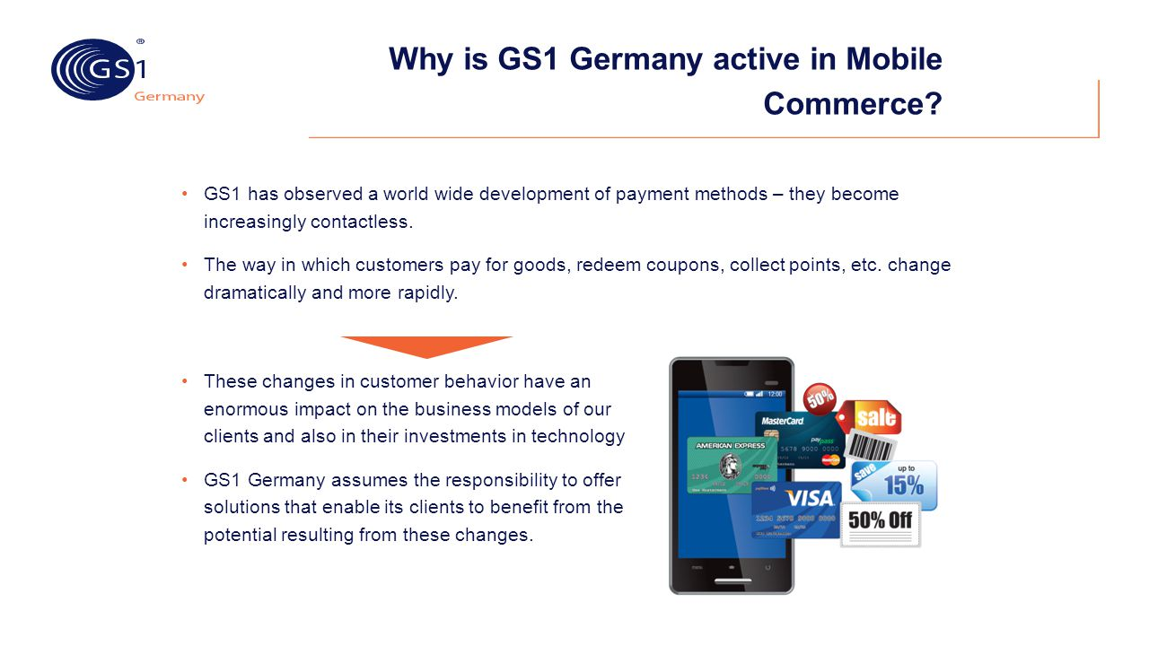 Why is GS1 Germany active in Mobile Commerce