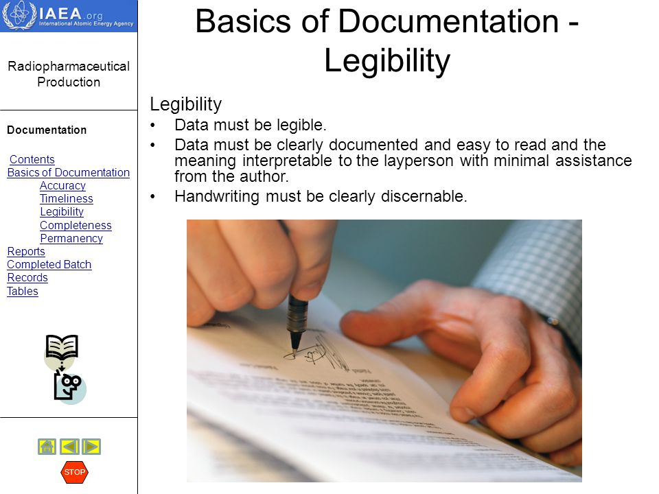 Basics of Documentation - Legibility