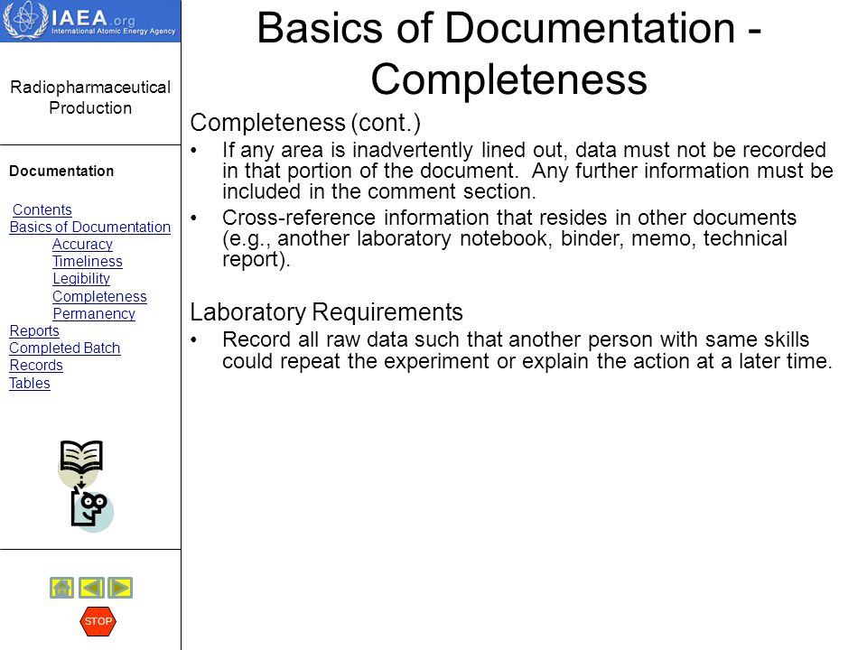 Basics of Documentation - Completeness