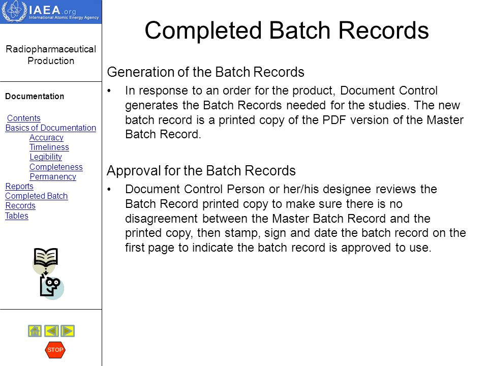 Completed Batch Records