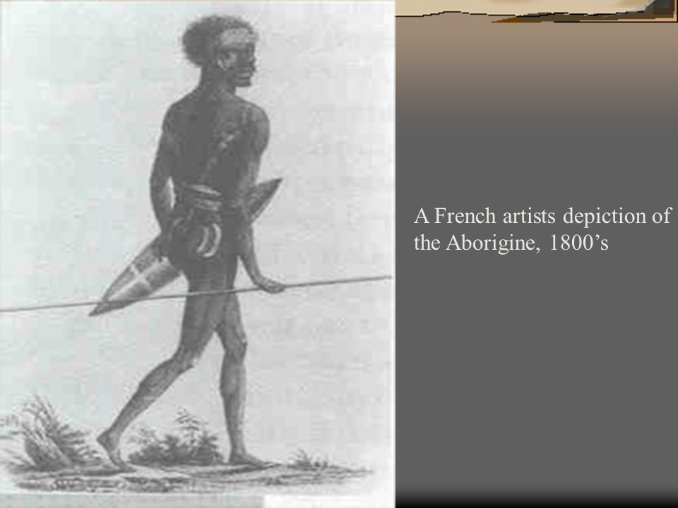 A French artists depiction of the Aborigine, 1800's